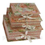"""Комплект коробок-книг из 3-х шт. """"Розы"""" 610-019 фото"""