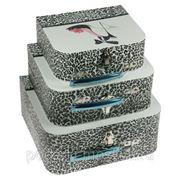 "Комплект коробок-сундучков из 3-х шт. ""Гламур"" 743-020 фото"
