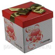 Коробка-трансформер с бантом 13*13*12см 99725 фото