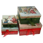 "Комплект коробок из 4-х шт. ""Подарок Деда Мороза"" 630-998 фото"