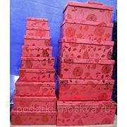 """Комплект коробок из 16шт. """"Красные цветы"""" 913-095 фото"""