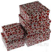 """Комплект коробок из 5шт. """"Красный горох"""" 320-013 фото"""