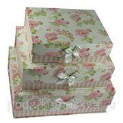 """Комплект коробок-книг из 3-х шт. """"Розы"""" 764-028 фото"""