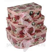 """Комплект коробок-сундучков из 3-х шт. """"Алые розы"""" 600-010 фото"""