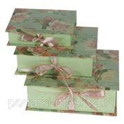 """Комплект коробок-книг из 3-х шт. """"Сатин"""" 610-008 фото"""