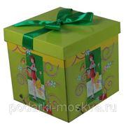 Коробка-трансформер с бантом 15*15*15см 99729 фото