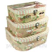 "Комплект коробок-сундучков из 3-х шт. ""Открытка"" 602-013 фото"