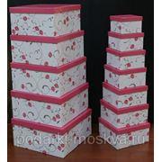 """Комплект коробок из 17шт. """"Розовая роза"""" 930-065 фото"""