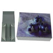 """Коробка-трансформер """"Синие шары"""" 16*13*5см 400-996 фото"""