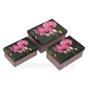 """Комплект коробок из 3шт. """"Орхидея"""" 220-001 фото"""