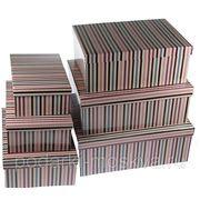 """Комплект коробок из 6шт. """"Полоска"""" 312-002 фото"""