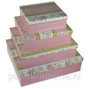 """Комплект коробок из 4шт. """"Розовый букет"""" 315-006 фото"""