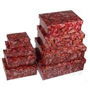 """Комплект коробок из 8шт. """"Розовая роза"""" 311-018 фото"""