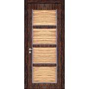 Гладкие двери из экзотических пород дерева Таверна 2 фото