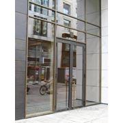 Двери на основе алюминиевого профиля фото