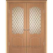 Межкомнатные двери ПВХ Геона модель Классика (стекло пескоструйное) остекленные фото