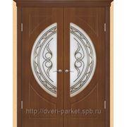 Межкомнатные двери ПВХ Геона модель Сфера (стекло пескоструйное) остекленные фото