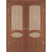 Межкомнатные двери ПВХ Геона модель Каролина остекленные фото