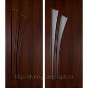 Межкомнатные двери эконом класса (дешевые) 4с4, 4г4 /белое матовое стекло/ фото