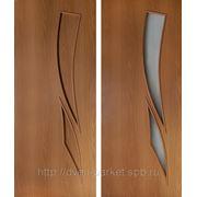 Межкомнатные двери эконом класса (дешевые двери) 4с8, 4г8 /белое матовое стекло/ фото