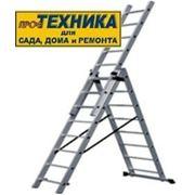 Лестница трехсекционная алюминиевая PL-308C фото
