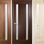 Дверь из бруса Новый стиль Босса каштан фото