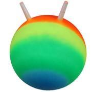 Мяч попрыгун с рожками d-55см рисунок радуга фото
