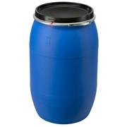 Бочка пластиковая 227литр БУ с широкой крышкой (Евробарабан) фото