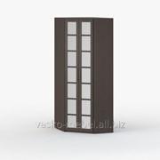 Шкаф угловой 45-45, Васко СОЛО-036 Корпус венге, фасад венге/зеркало фото