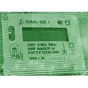 Счетчик электрической энергии статический однофазный двухтарифный типа ПУМА-103.1 фото