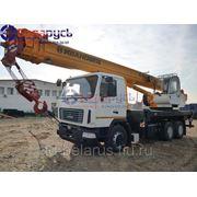 Автокран ивановец грузоподъемностью 25 тонн на базе шасси маз-6312в3 кс-45717А-1р фото