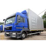 Тентованный грузовик MAN TGL 8.220, 60 м3, 2 спальника, максимальная комплектация, 2011 г.в.