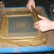 Шелкография, трафаретная и пигментная печать, декалькомания фото