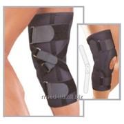 Ортопедический фиксатор ортез на колено с шарниром и подушечкой на колено для предотвращения гиперэкстензии 6160 Genucare Hyper-X фото