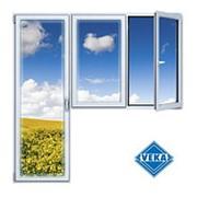 Балконный блок ПВХ Veka 2100х2100 мм 2-ЛГ-ПП 2 стеклопакет фото