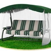 Качели садовые 592 / 902 Green Premium с москитной фото