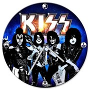 Настенные часы KISS Rocking Out Wood Wall Clock фото