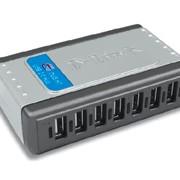 7-ми портовый USB 2.0 концентратор, скорость до 480 Мбит/с фото