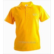Рубашка поло Infiniti желтая вышивка белая фото