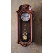 Деревянные часы с маятником модель 4120 фото