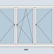Трёхстворчатое окно 60мм фото