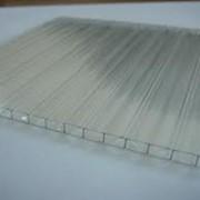 Поликарбонат сотовый 12000х2100х6 прозрачный фото