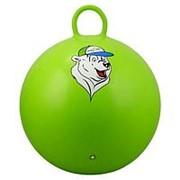 """Мяч-Попрыгун Starfit """"GB-403 """"медвежонок"""" 65 см с ручкой, зеленый фото"""