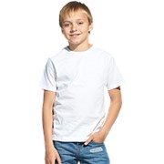 Футболка детская, 140 гр/м2, 100% хл, StanClass, 06U / белый 32 фото
