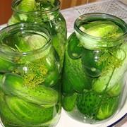 Огурцы консервированные с зеленью фото