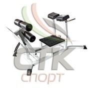 Тренажер для горизонтального разгибания спины с зажимами для ног (Гиперэкстензия горизонтальная) фото