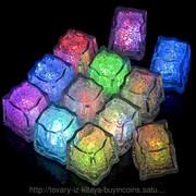 Светящиеся,мигающие кубики льда 12 шт. фото