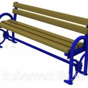 Скамейки деревянные со спинкой фото