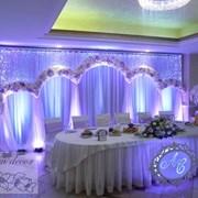 Световое оформление свадебного президиума фото