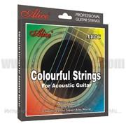 Alice A407C Цветные струны для акустической гитары С фото